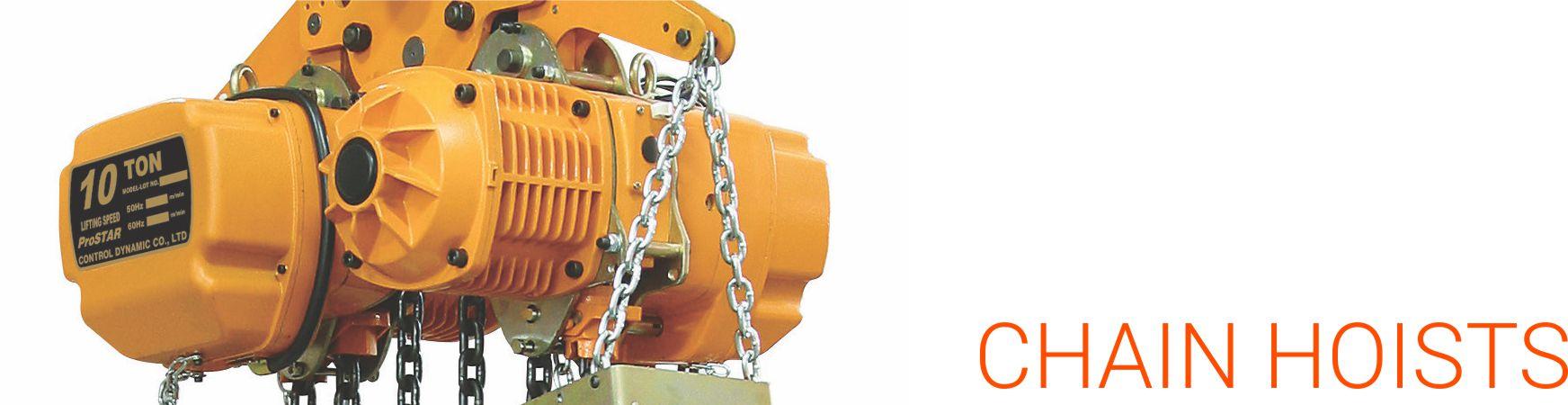 air hoists, electric chain hoists, manual chain blocks, manual lever  blocks, various trolleys